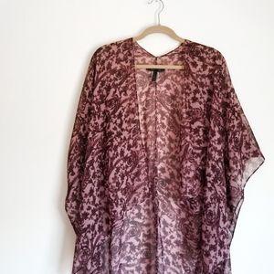 BCBGMAXAZRIA Sheer Kimono
